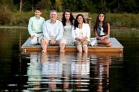 Family Portrait Dock Days on Lake Alice